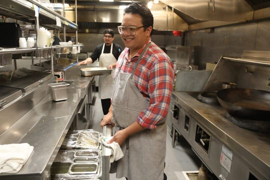 Owner and chef Dale Talde of Fort Lee in the kitchen preparing fried rice at this Jersey City restaurant.