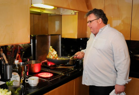Celebrity chef, David Burke at his home in Fort Lee