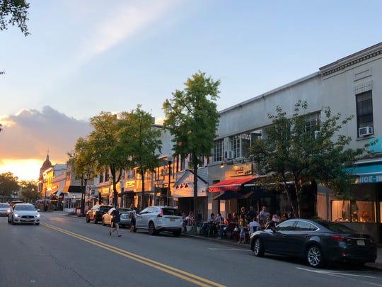 Sunset in downtown Ridgewood.
