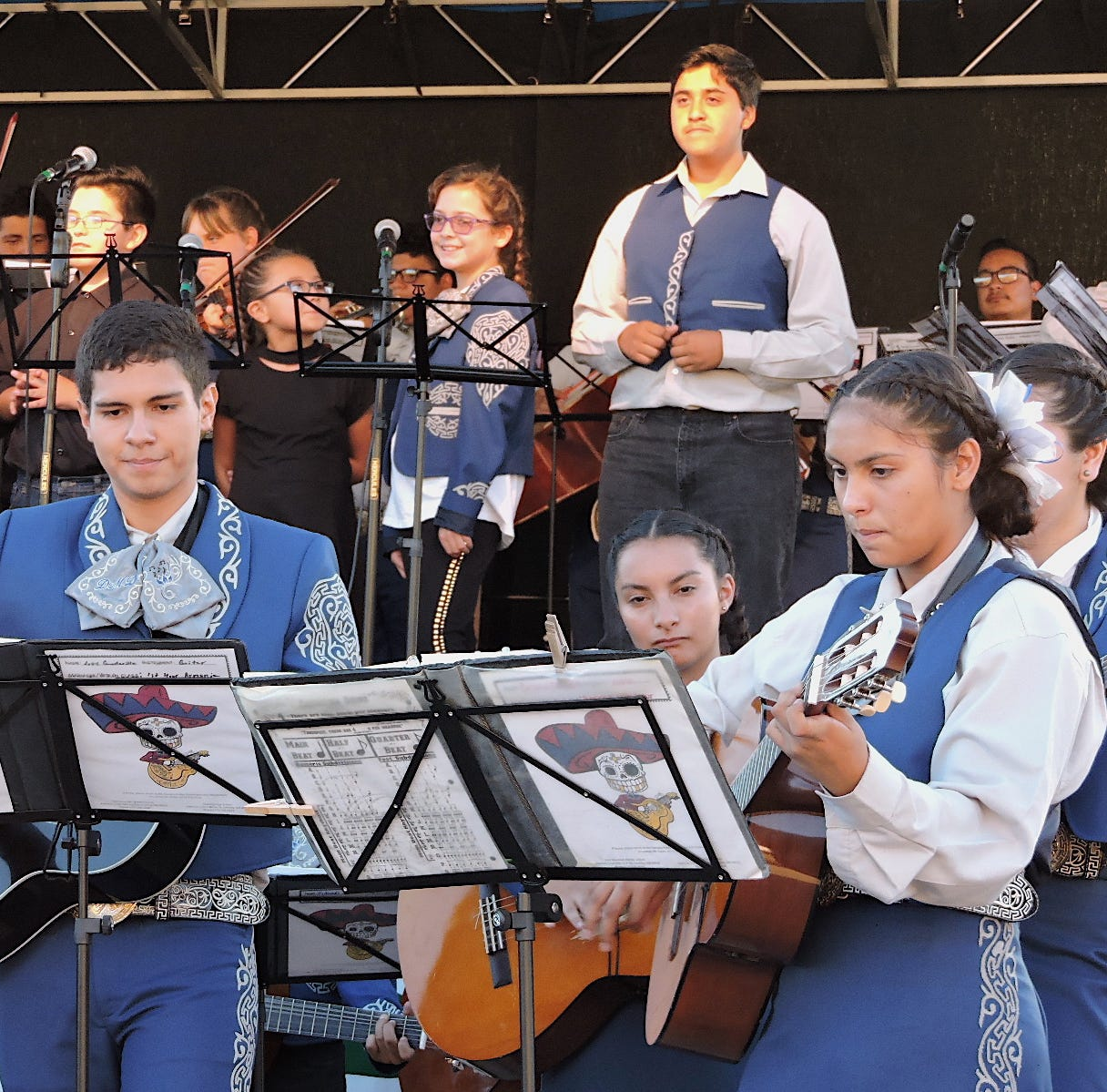 Deming High Mariachis perform at Rockhound State Park, NM