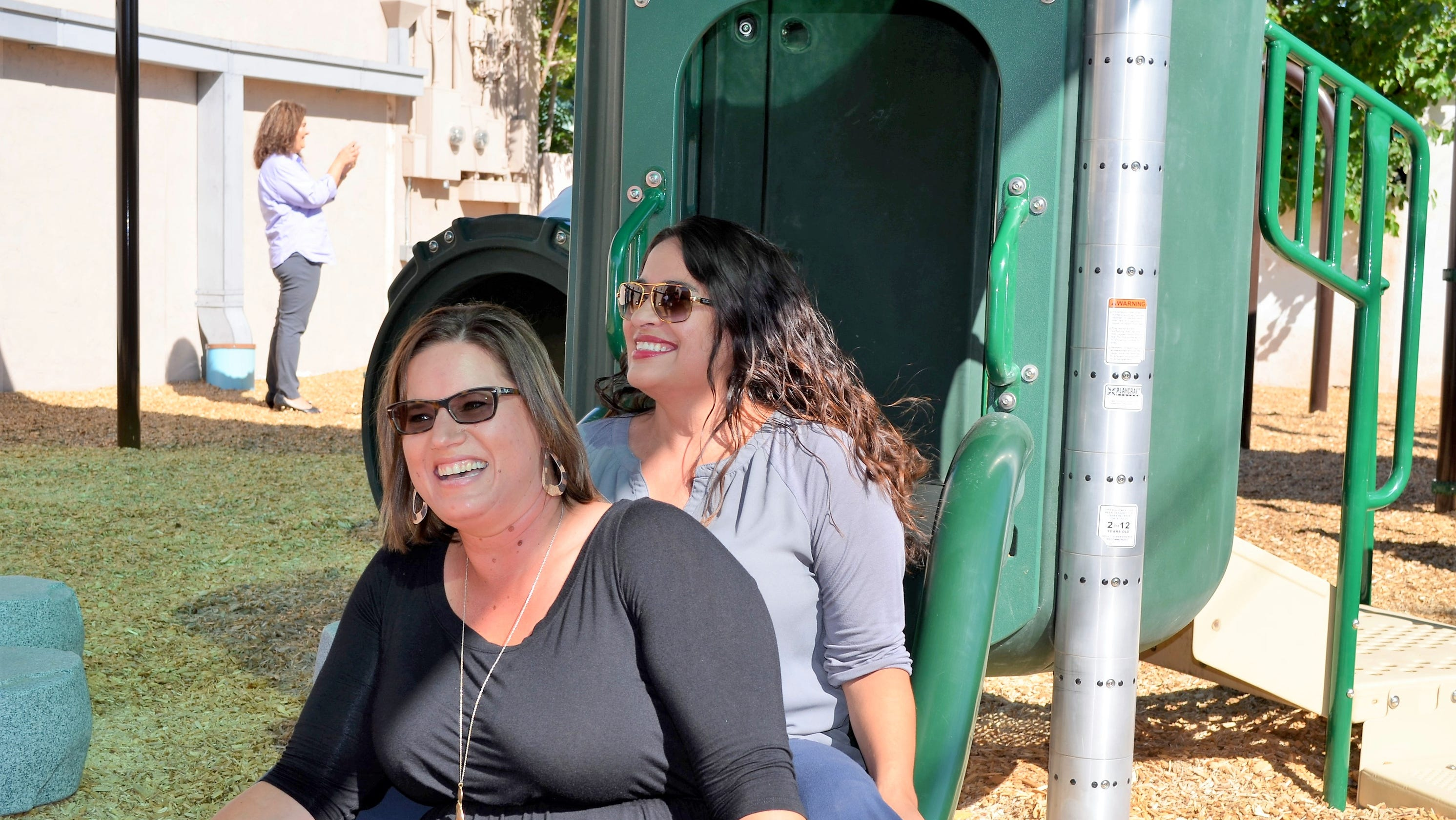 Luna County opens children's playground at health and well