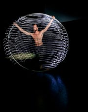 """Ty Vennewitz, a professional clown, dancer, juggler and Cyr artist, will perform at Project In Motion's seventh annual """"Above Borders"""" Aerial Dance Festival Friday, Sept. 21 - Sunday, 23."""
