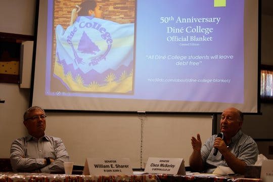 Members of the New Mexico Legislature's Indian Affairs Committee received information from Diné College officials about its 50th anniversary during a committee meeting on Monday in Gadii'ahi.