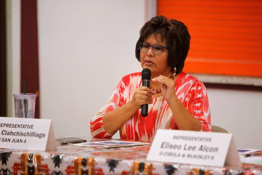 New Mexico state Rep. Sharon Clahchischilliage was among the members of the state Legislature's Indian Affairs Committee to comment about a report from Diné College officials on Monday.