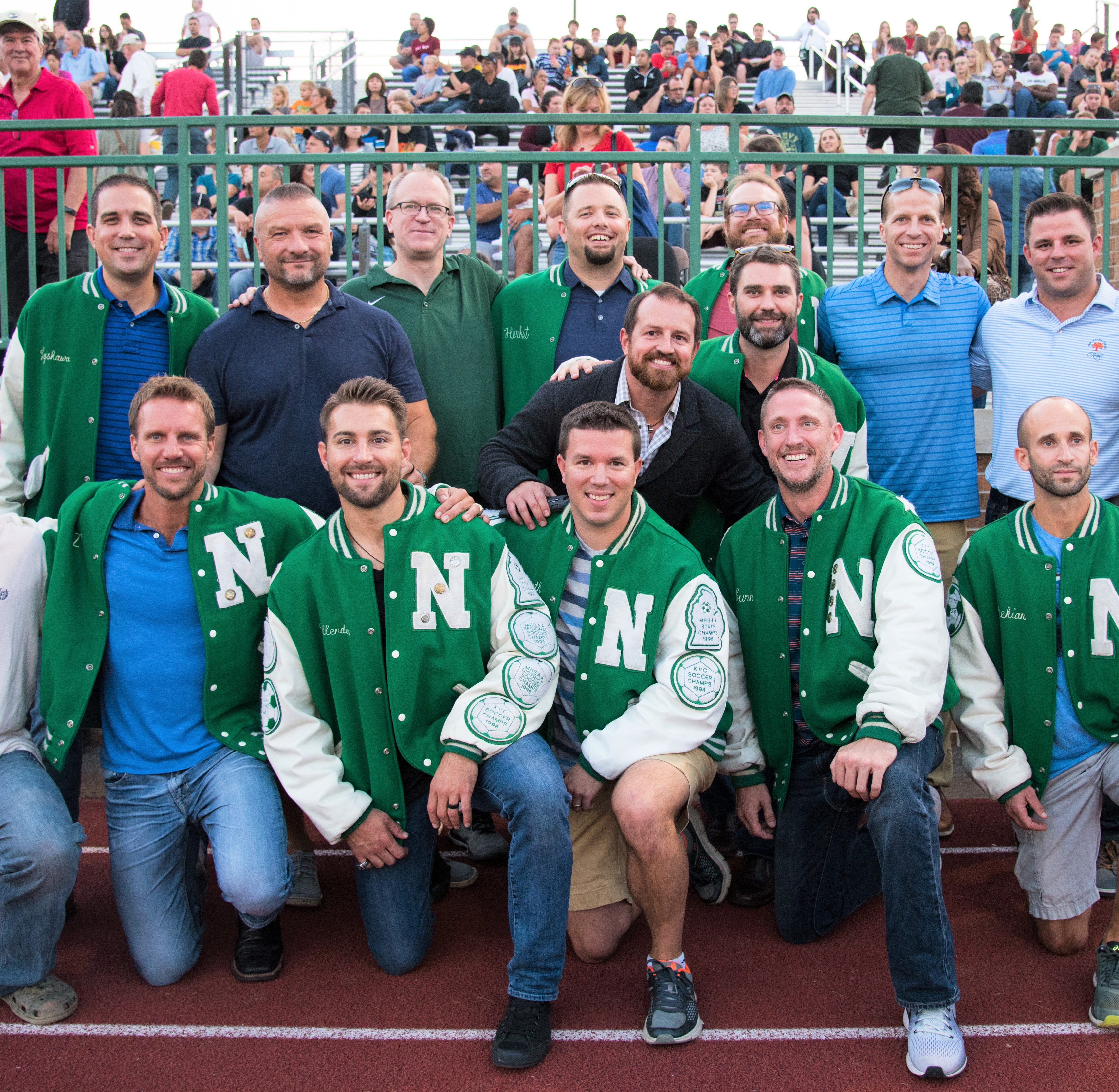1998 Division 1 champion Novi boys soccer team takes another bow