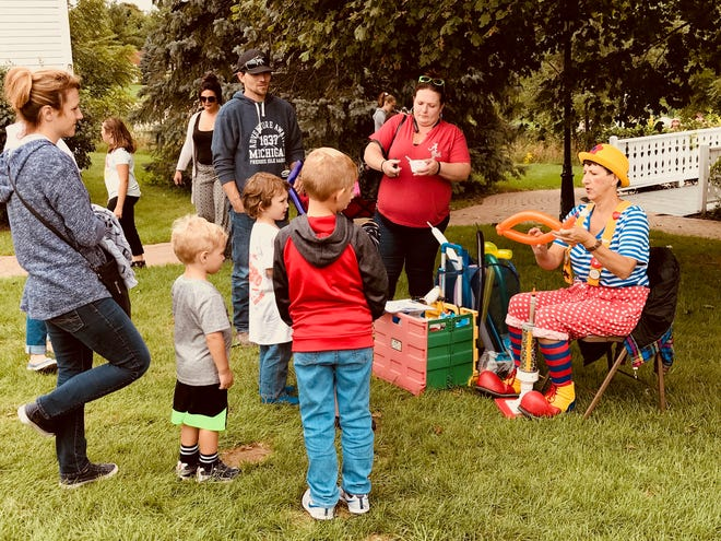 This balloon-maker was a popular choice with youngsters at Depot Day.