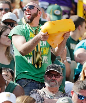 Packers fans at Lambeau Field on Sunday, September 16, 2018 in Green Bay, Wis.Adam Wesley/USA TODAY NETWORK-Wisconsin