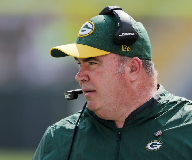 Green Bay Packers head coach Mike McCarthy at Lambeau Field on Sunday, September 16, 2018 in Green Bay, Wis.Adam Wesley/USA TODAY NETWORK-Wisconsin