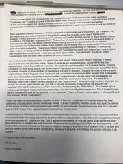 Photo of the alleged Huckabee email to an unnamed Walton County Commission candidate. Neither Huckabee nor various candidates would return calls to confirm the email. Following publication of a story regarding the email, Huckabee has since acknowledged he sent the email to then-candidate Trey Nick, who has since been elected.