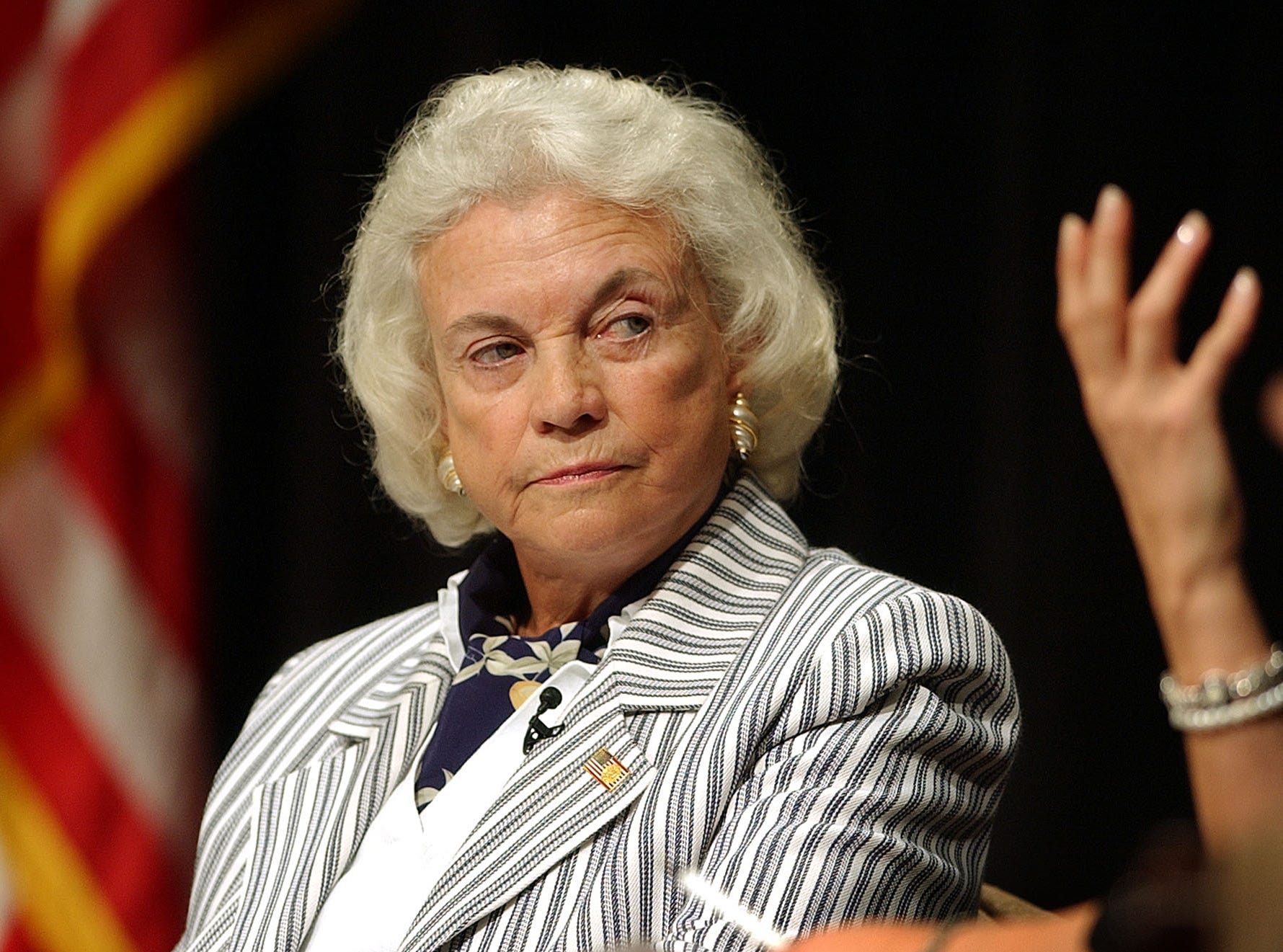 Associate Justice of the U.S. Supreme Court Sandra Day O'Connor listens during the 2004 9th Circuit Judicial Conference Thursday, July 22, 2004, in Monterey, Calif.