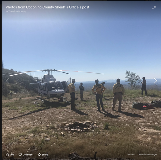 Rescue crews looking over crash site near Payson