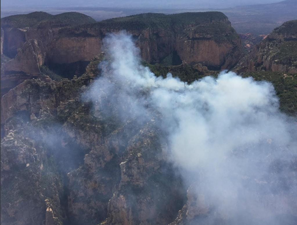 The Platypus Fire as seen from above.