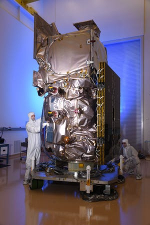 This Gilbert-built satellite, made by Northrop Grumman, was launched on the final ride of the Delta II rocket.