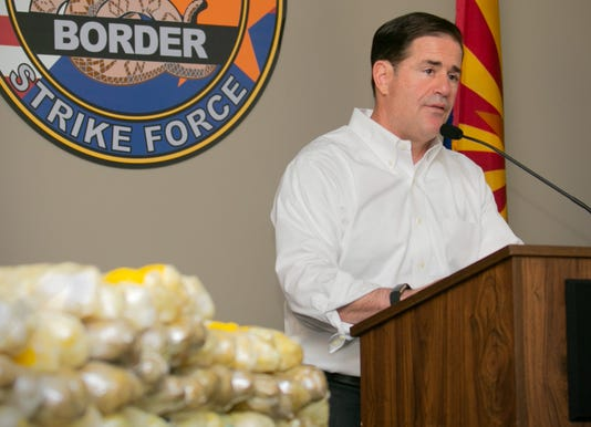 Arizona Gov. Doug Ducey speaks about the Border Strike Force