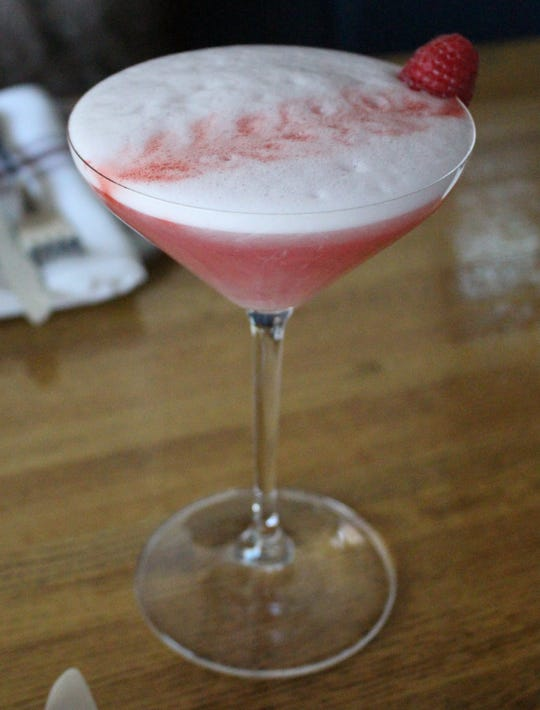 Parma's  cocktail list includes the Clover Club made with gin, raspberry and egg white.