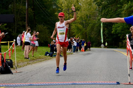 Nick Cruz wins the half marathon at the 40th Dutchess County Classic on Sunday in LaGrangeville.