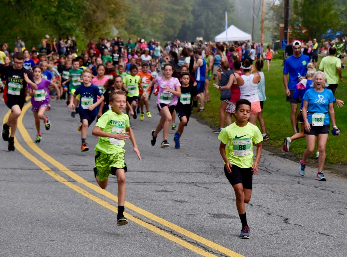 Kids mile runners take part in the 40th Dutchess County Classic on Sunday in LaGrangeville.