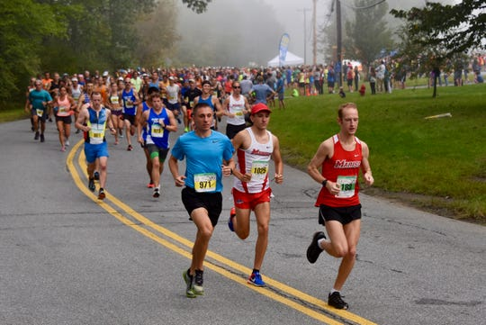 Half-marathon runners take part in the 40th Dutchess County Classic on Sunday in LaGrangeville.