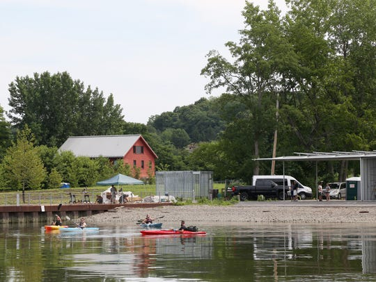 A group of kayakers set off from Long Dock Park in Beacon on July 30, 2018.