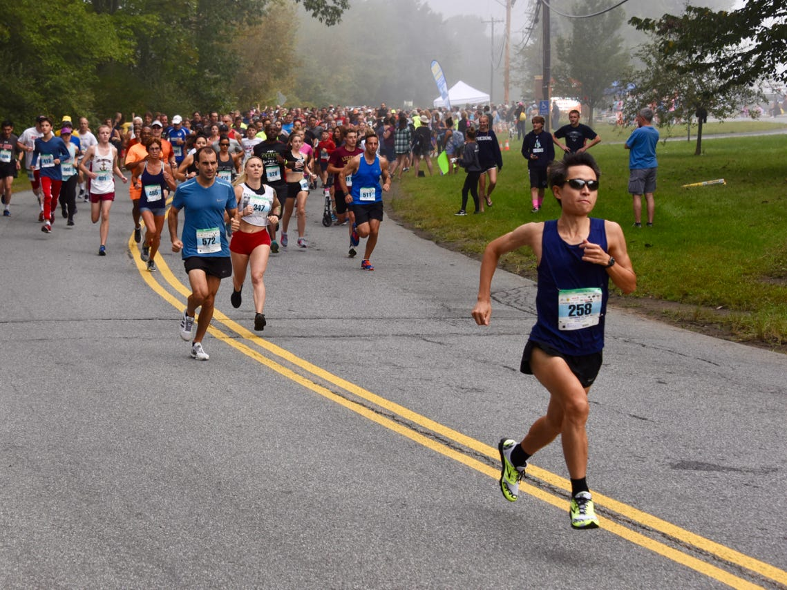 Five-kilometer runners take part in the 40th Dutchess County Classic on Sunday in LaGrangeville.