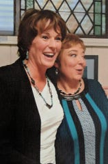 Mary McHale, left, and her wife Susan at their wedding in December 2014.