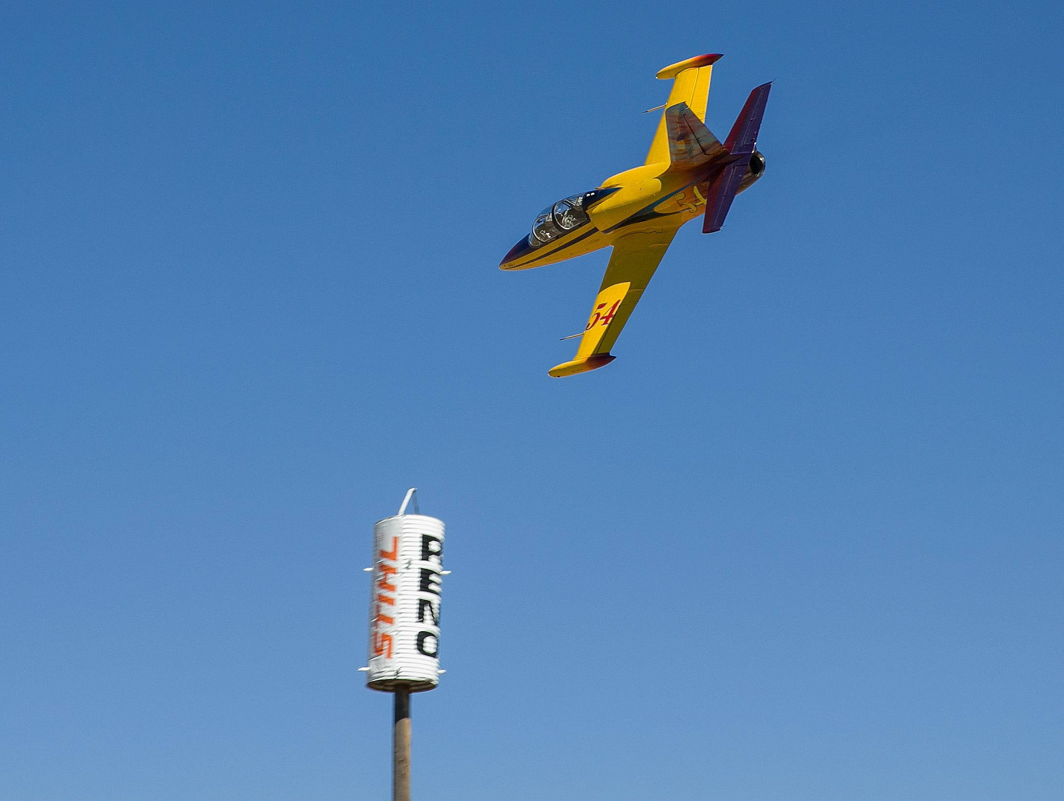 Jeff Turney from Reno finished 2nd in the Jet Silver race during the Reno National Championship Air Races on Sunday, Sept. 16, 2018.
