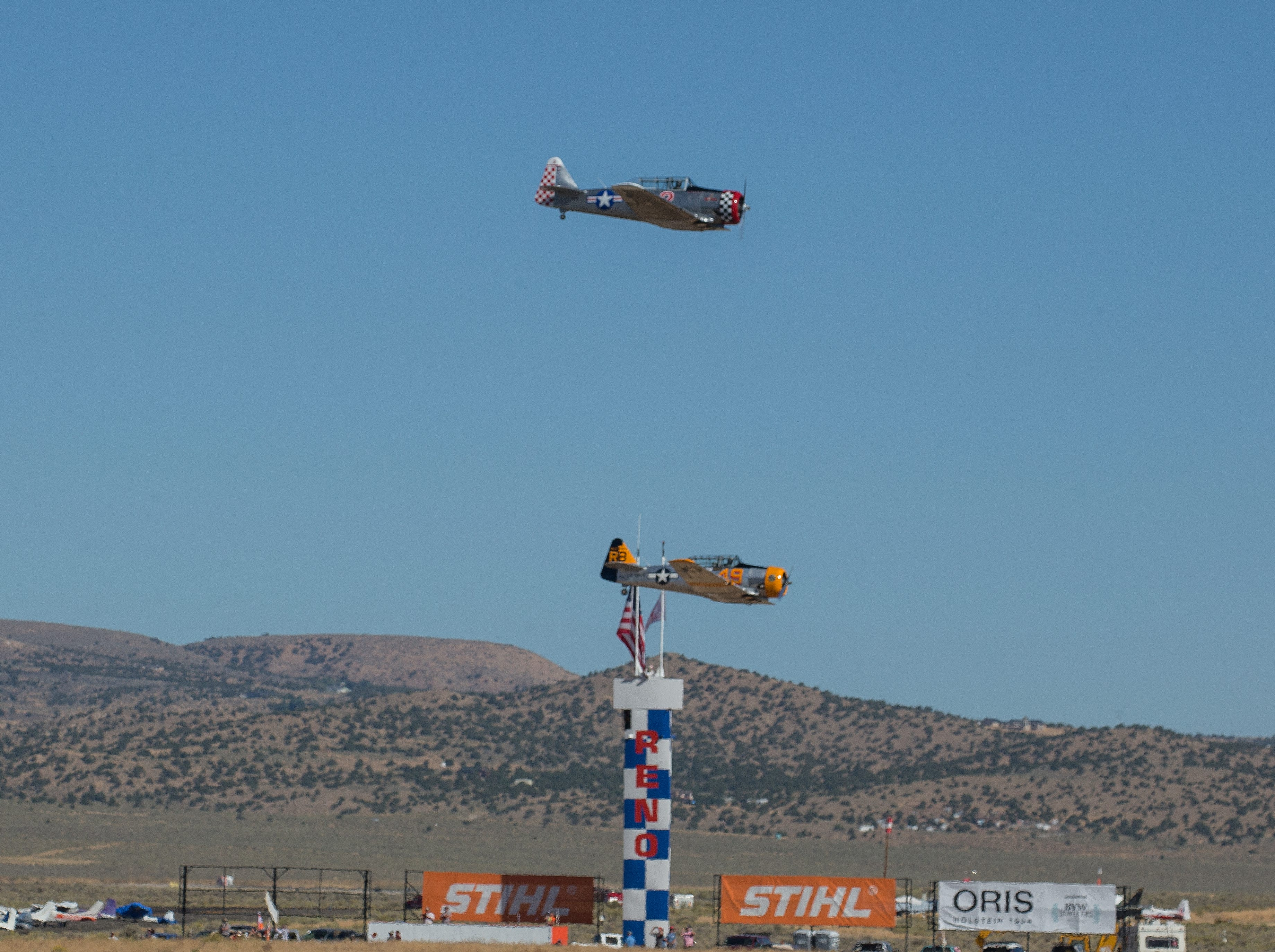 A photograph taken during the Reno National Championship Air Races on Sunday, Sept. 16, 2018.