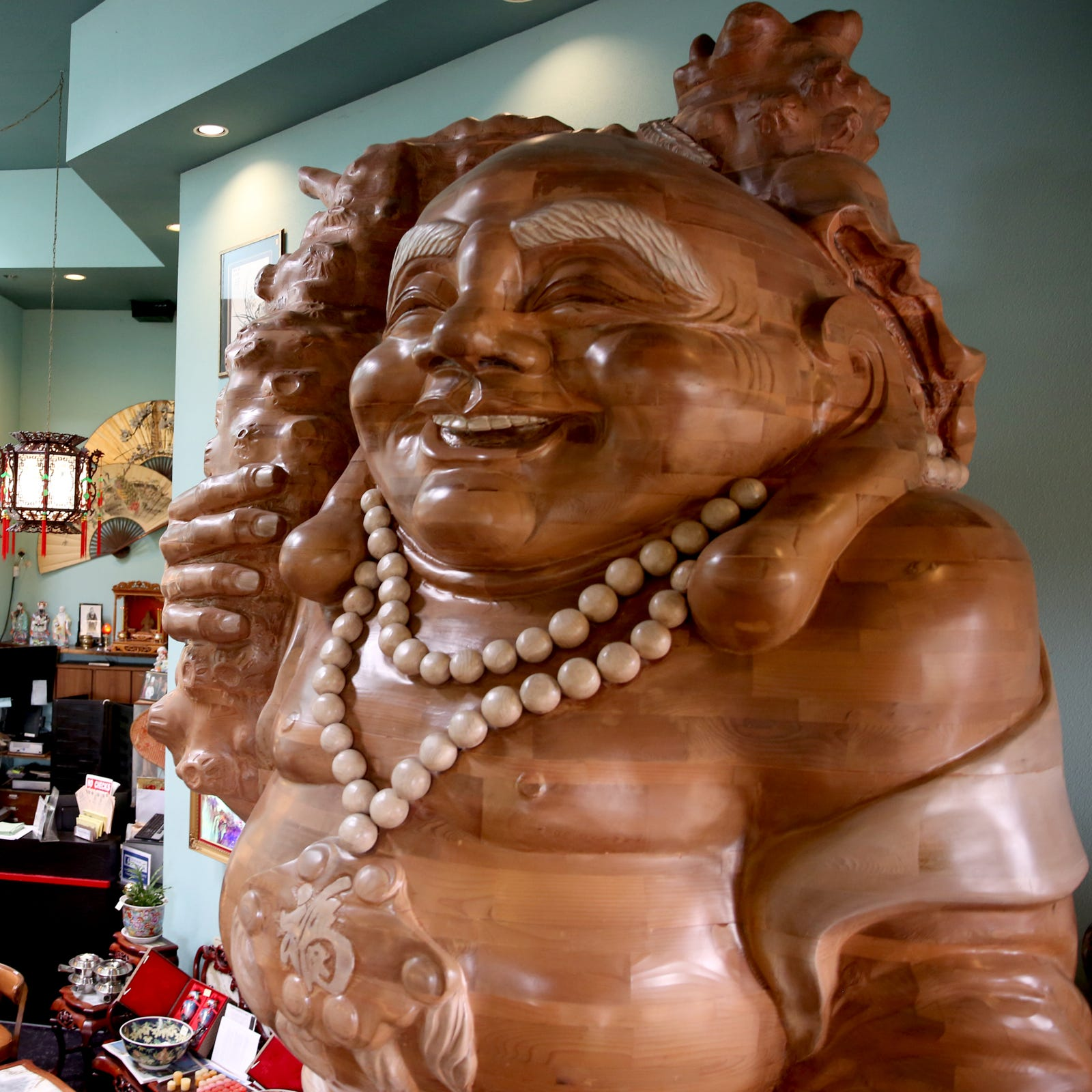 Wanted: New home for the 14-foot, 3,000-lb. happy Buddha from Kwan's restaurant