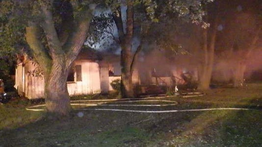 Parsonsburg Vacant House Fire