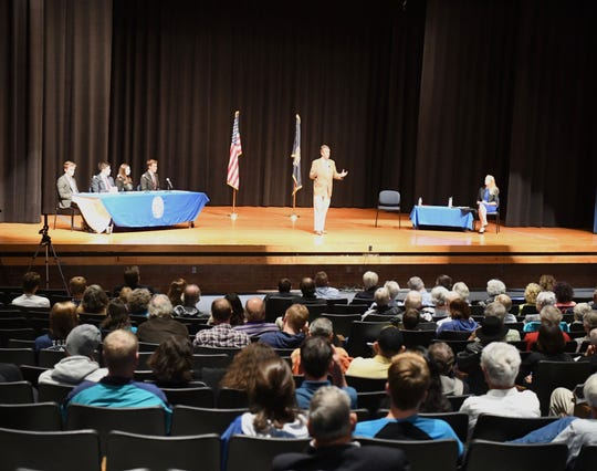 A crowd convened at Spotswood High School Sept. 17 to watch the first debate between Democratic nominee Jennifer Lewis and Republican nominee Del. Ben Cline for the 6th district of Virginia congressional seat.