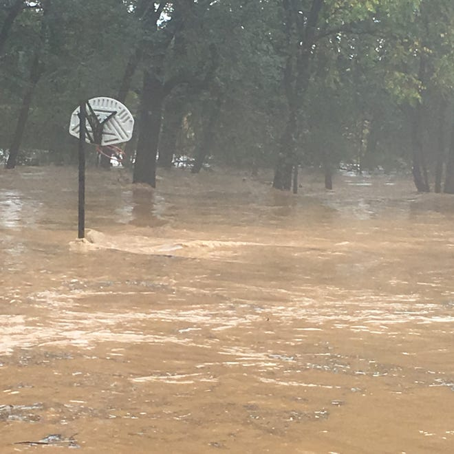 """""""It's been a long time since we've had water like this."""" Dolan Puffenbarger in Churchville. Photograph taken Monday, Sept. 17, 2018."""