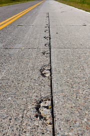 The Minnesota Department of Transportation MnROAD research facility test different types of road surfaces, repair materials and how they are applied Tuesday, Sept. 11, along Interstate 94 in Albertville.