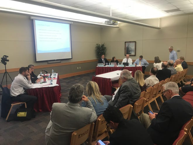 Members of Gov. Gary Herbert's Executive Water Finance Board meet Sept. 17, 2018, at Dixie State University in St. George.