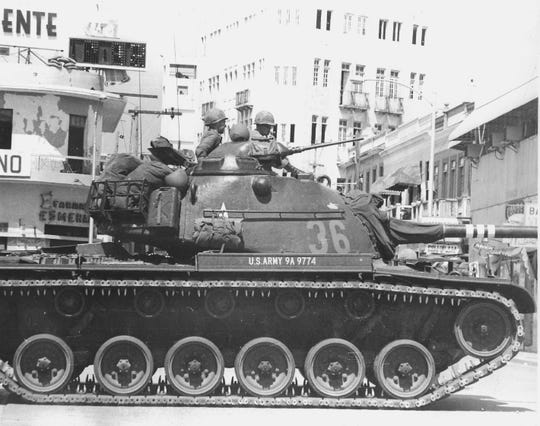 In October 1965 Donald PIckett was a Captain and company commander of a tank company that was deployed to Santo Domingo, Dominican Republic,  from Fort Stewart, Georgia.