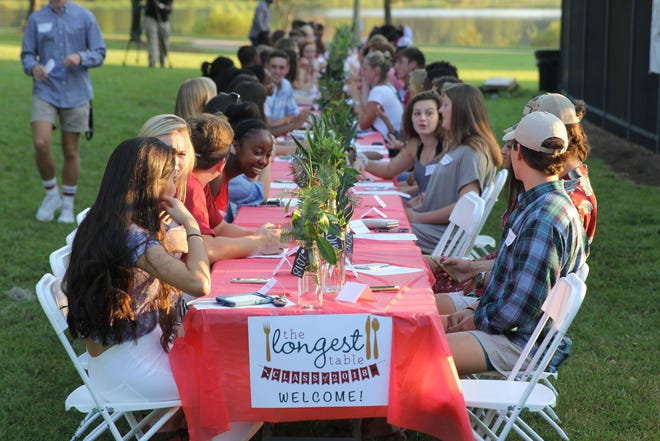 Students from a number of area high schools, public and private, came together to converse at The Longest Table at Southwood Community Center in 2017. This year's high school edition will be Sunday at Leon High.