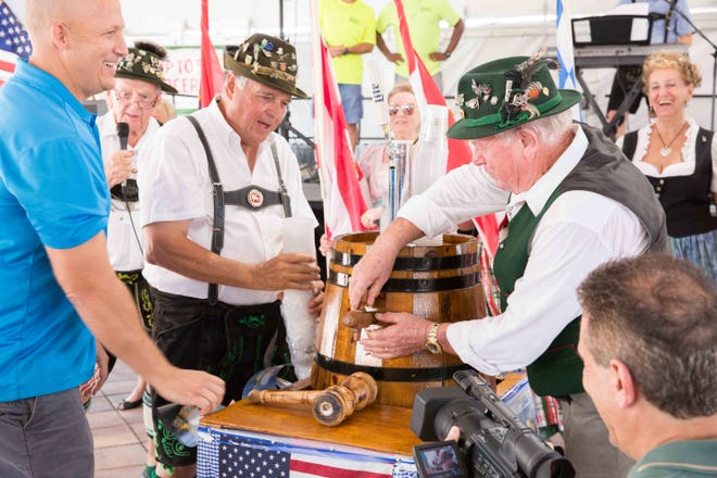 Join in the ceremonial tapping of the keg on Friday, Oct. 5 at the 2018 Oktoberfest, outside the Port St. Lucie Civic Center.