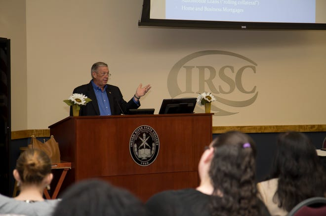 Chris Russell, president of Oculina Bank, engaged with students, alumni and community members at the Fall 2017 Financial Literacy Lecture Series at the IRSC Mueller Campus in Vero.   This year's free lecture series is Oct. 9 to 11 from 6 to 8 p.m. at the Schreiber Conference Center on the Pruitt Campus, 500 N.W. California Blvd. in St. Lucie West.