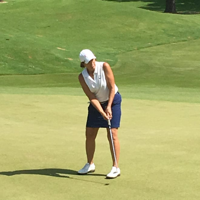 Laura Carson of Vero Beach lost 1-up to Patricia Cornett in a first-round match Monday in the 57thU.S. Senior Women's Amateur at Orchid Island Golf & Beach Club.