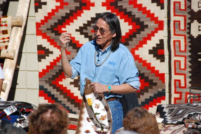 Edison Eskeets will describe the history, symbolism, artistry and production of Navajo rugs Sept. 22 and 23 at the Santa Monica Mountains Visitor Center in Calabasas.