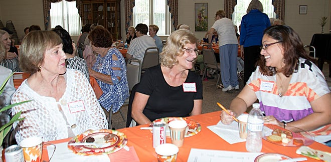 (From left) Joan Blew, a new member, Millville Woman's Club, and Linda Tasso and Michelle Greaves, prospective members, attended the club's meet and greet/open house on Sept. 13.
