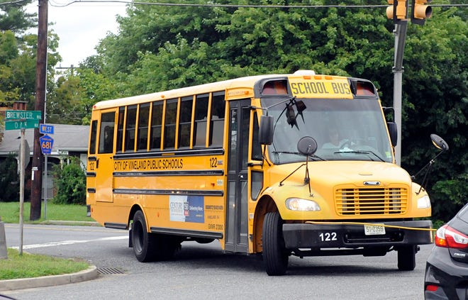 A bus stop near the Brewster and Oak roads intersection in Vineland has many parents concerned regarding safety issues.