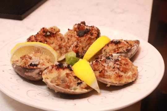 Real Deal Baked Clams is a dish served during Dinner with Jeanne at new not yet open Maria Restaurant in New Rochelle Sept.14, 2018.