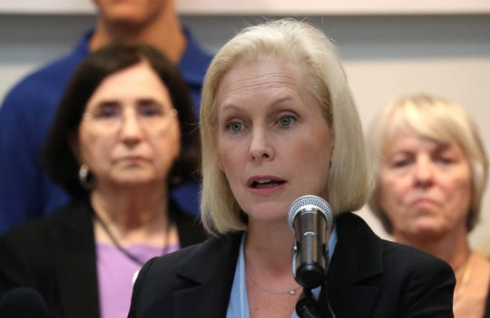 Sen. Kirsten Gillibrand speaks at St. VincentÕs Hospital Westchester in Harrison Sept. 17, 2018. She was there to push for funding to combat the opioid epidemic and support prescription drug monitoring programs.