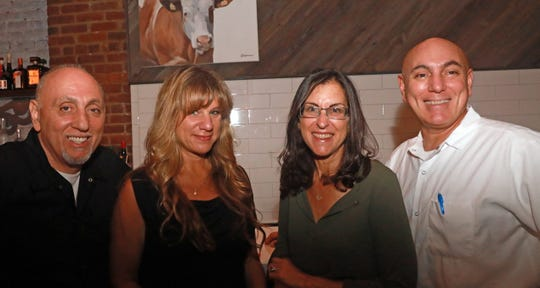 Lohud food reporter Jeanne Muchnick, third from left, with, from left, Maria co-owner Peter Cucullo, dinner guest ChrisAnn Sepkowski, and chef/co-owner Giovanni Cucullo at Maria Restaurant in New Rochelle Sept.14, 2018.