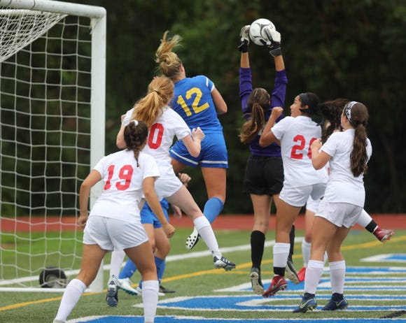 North Rockland defeats Mahopac 2-0 during girls soccer game at Mahopac High School on Sept.17, 2018.