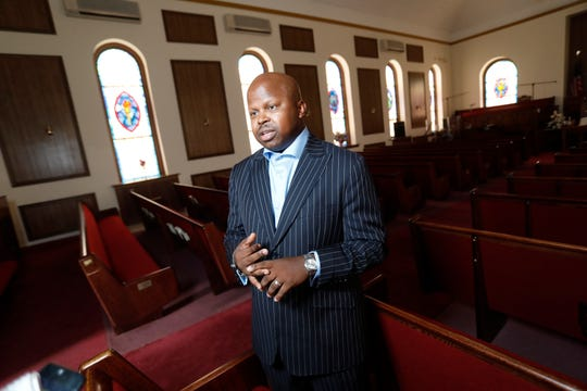 Rev.Greg Merriweather will be installed as the pastor of the Calvary Baptist Church in Haverstraw.  Sept. 17, 2018.
