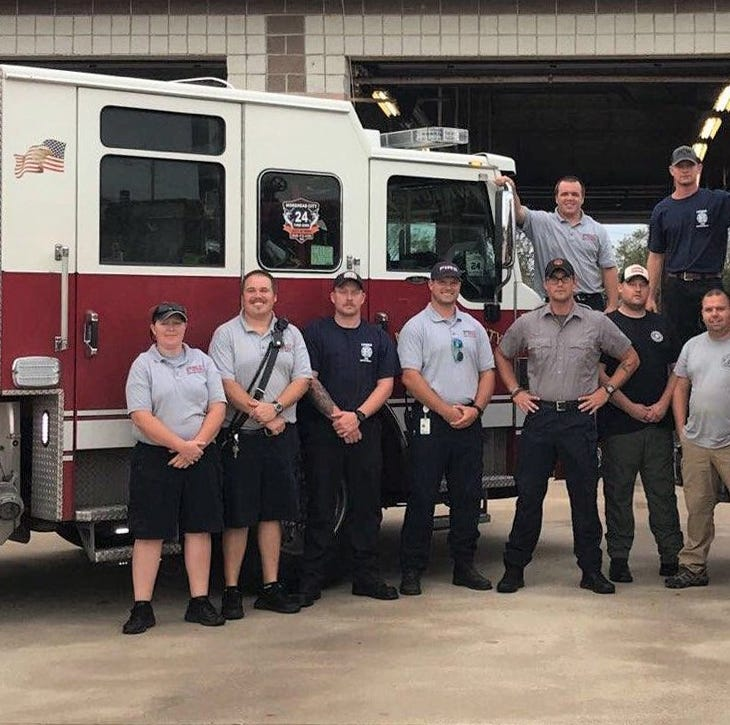Delaware firefighters in North Carolina: Some fight fires, others wait for floods to subside