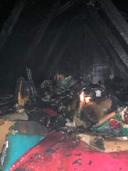 Three members of the Lewes Fire Department helped put out an attic fire in Morehead, North Carolina, Sunday night.