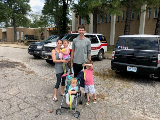 Sam Townsend, left, and her family have been helping feed local firefighters from Smyrna and Lewes who are in North Carolina helping the cleanup and rescue mission during Hurricane Florence.