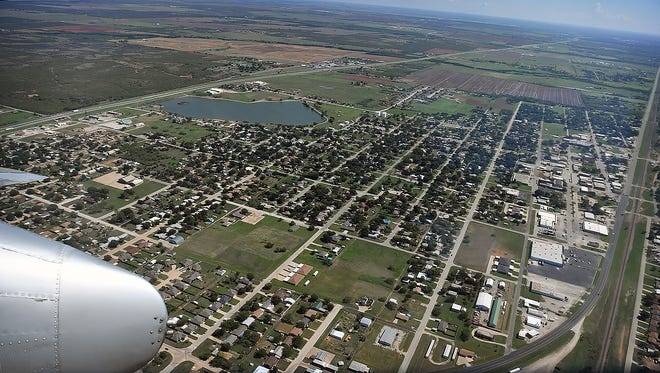 In this file photo, Iowa Park is seen from an airplane in 2018. The city made it on the list of top 50 safest cities in Texas at number 47.